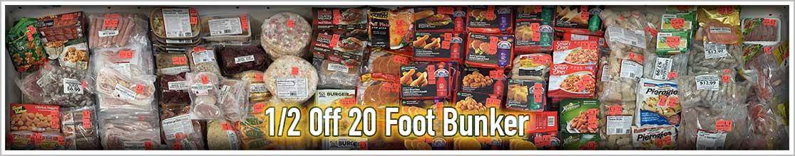 50% off Frozen Foods
