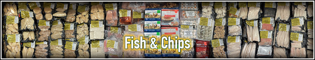 Frozen Fish, Chips and Potatoes