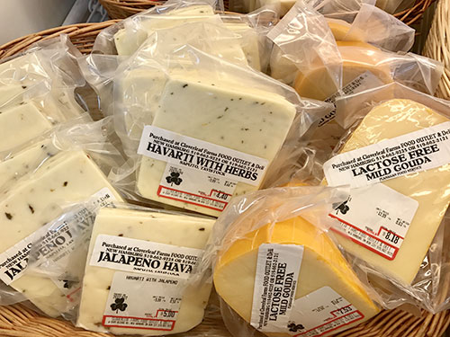 A wide variety of fresh cut cheese