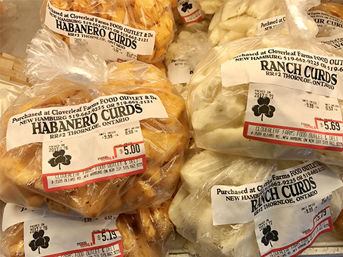 A wide variety of cheese curds