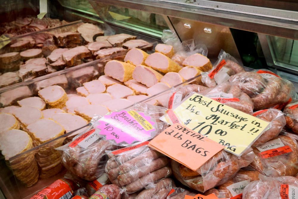 St Jacobs Market - Fresh Meat Counter Peameal