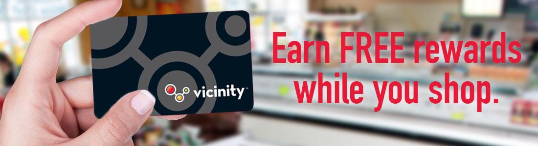 Vicinity Rewards Loyalty Card